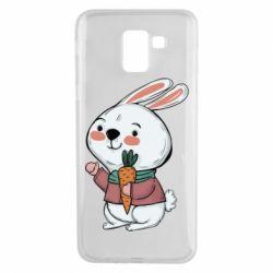 Чохол для Samsung J6 Winter bunny