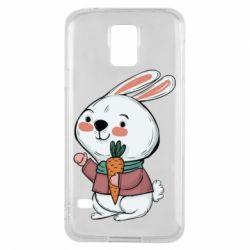 Чохол для Samsung S5 Winter bunny