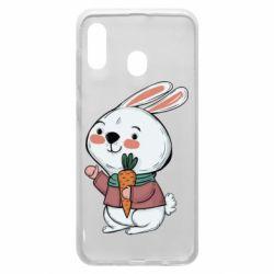 Чохол для Samsung A20 Winter bunny