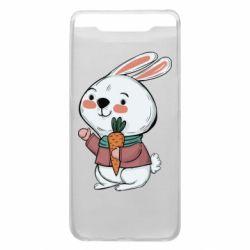 Чохол для Samsung A80 Winter bunny