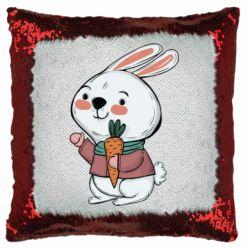 Подушка-хамелеон Winter bunny