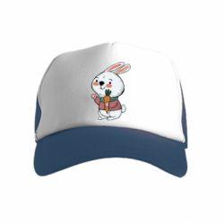 Дитяча кепка-тракер Winter bunny