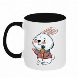 Кружка двоколірна 320ml Winter bunny