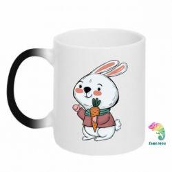 Кружка-хамелеон Winter bunny