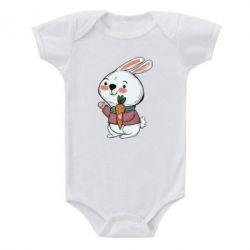 Дитячий бодік Winter bunny