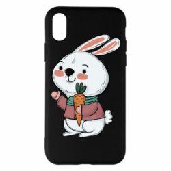 Чохол для iPhone X/Xs Winter bunny