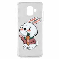 Чохол для Samsung A6 2018 Winter bunny