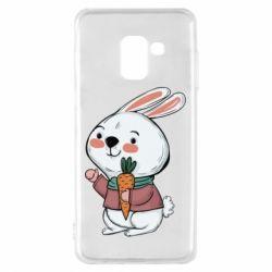 Чохол для Samsung A8 2018 Winter bunny