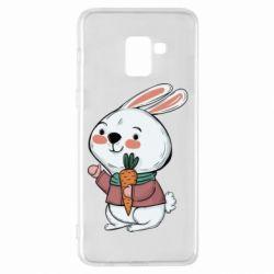 Чохол для Samsung A8+ 2018 Winter bunny