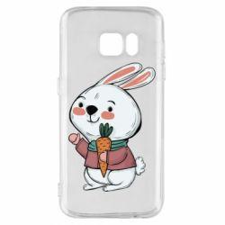 Чохол для Samsung S7 Winter bunny
