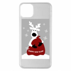 Чохол для iPhone 11 Pro Max Winter card with a deer
