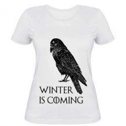 Жіноча футболка Winter is approaching and crow
