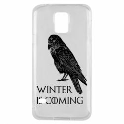 Чохол для Samsung S5 Winter is approaching and crow