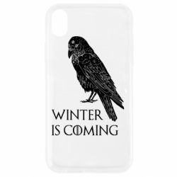 Чохол для iPhone XR Winter is approaching and crow