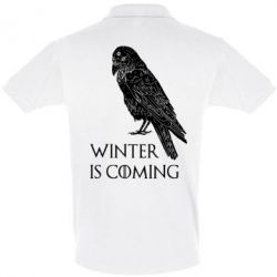 Футболка Поло Winter is approaching and crow