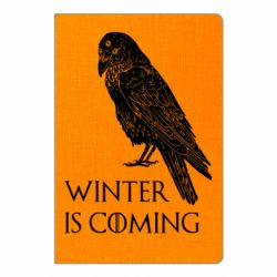 Блокнот А5 Winter is approaching and crow