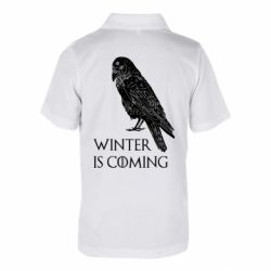 Дитяча футболка поло Winter is approaching and crow