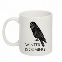 Кружка 320ml Winter is approaching and crow