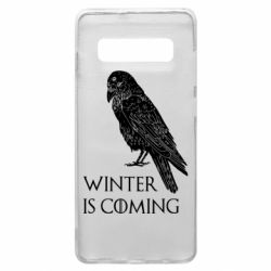 Чохол для Samsung S10+ Winter is approaching and crow
