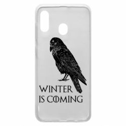 Чохол для Samsung A20 Winter is approaching and crow