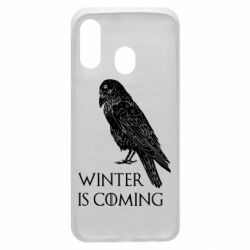 Чохол для Samsung A40 Winter is approaching and crow