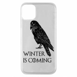 Чохол для iPhone 11 Pro Winter is approaching and crow