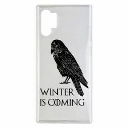 Чохол для Samsung Note 10 Plus Winter is approaching and crow