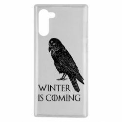 Чохол для Samsung Note 10 Winter is approaching and crow
