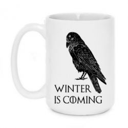 Кружка 420ml Winter is approaching and crow