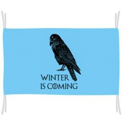 Прапор Winter is approaching and crow