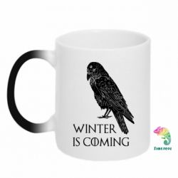 Кружка-хамелеон Winter is approaching and crow