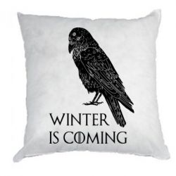 Подушка Winter is approaching and crow