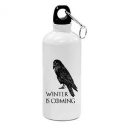 Фляга Winter is approaching and crow