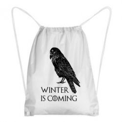 Рюкзак-мішок Winter is approaching and crow