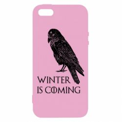 Чохол для iphone 5/5S/SE Winter is approaching and crow