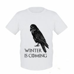Дитяча футболка Winter is approaching and crow