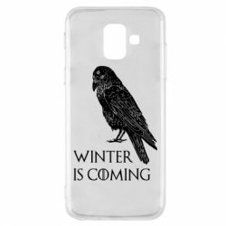 Чохол для Samsung A6 2018 Winter is approaching and crow