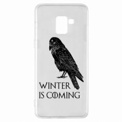Чохол для Samsung A8+ 2018 Winter is approaching and crow