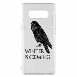 Чохол для Samsung Note 8 Winter is approaching and crow