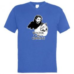 Чоловіча футболка з V-подібним вирізом Winter is coming I