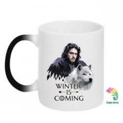 Кружка-хамелеон Winter is coming I