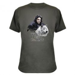 Камуфляжна футболка Winter is coming I