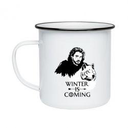 Кружка емальована Winter is coming I
