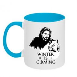 Кружка двоколірна 320ml Winter is coming I