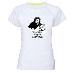 Жіноча спортивна футболка Winter is coming I