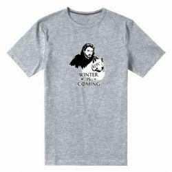 Чоловіча стрейчева футболка Winter is coming I