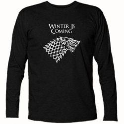 Футболка с длинным рукавом Winter is coming (Игра престолов) - FatLine