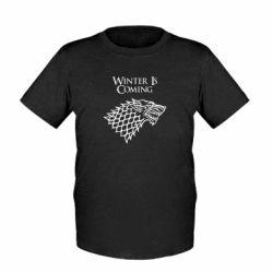 Детская футболка Winter is coming (Игра престолов) - FatLine