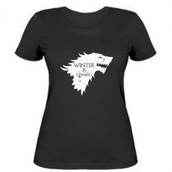 Женская футболка Winter is coming soon