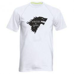 Мужская спортивная футболка Winter is coming soon